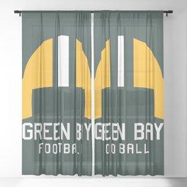 Green Bay Football Sheer Curtain