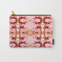 Mosaic pattern pink mineral texture Carry-All Pouch