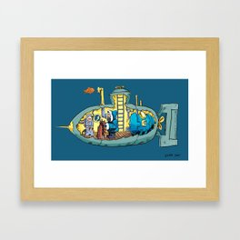 The Submarine of Dr. Khozan Framed Art Print