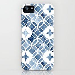 Indigo Retro Tile iPhone Case