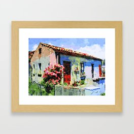 Catanzaro: home and flower Framed Art Print