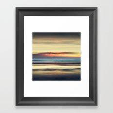 Along Memory Lines - Abstract Seascape Framed Art Print
