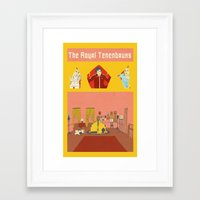 royal tenenbaums Framed Art Prints featuring The Royal Tenenbaums by Guiltycubicle