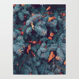 Frosty trees - Winter is here Poster