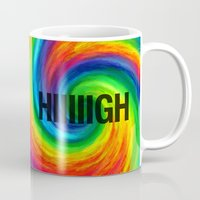 high Mugs featuring High by Text Guy