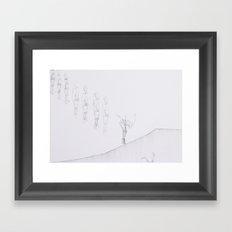 Whiteout I Framed Art Print