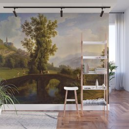 View of Italian Comune Montesarchio Jakob Philipp Hackert Wall Mural