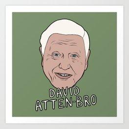 David Attenborough art, attenbruh, nature, British TV, Attenborough, Planet Earth Art Print