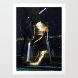 Gold Boots Art Print