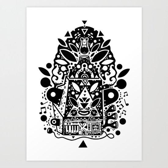 kozmik machine Art Print