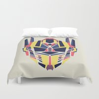 optimus prime Duvet Covers featuring Prime by Fimbis