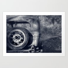 The Old Car Art Print