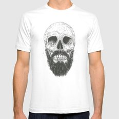 The beard is not dead MEDIUM Mens Fitted Tee White