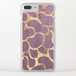Gold and Purple Clear iPhone Case