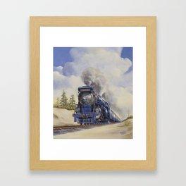 The Seashore's Finest Train Framed Art Print