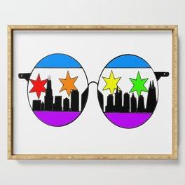 chicaGOggles Pride Serving Tray