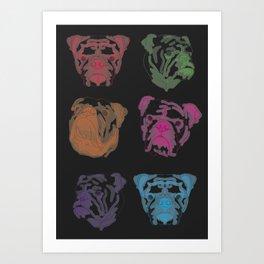 N E O N // bulldog (black) Art Print