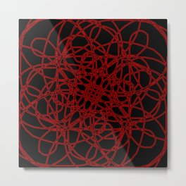 Defined by Red Metal Print