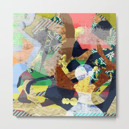 Abstract composition with chess pieces Metal Print