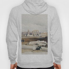 Ancient Hermonthis (Hermont)  by David Roberts (1796-1864) Hoody