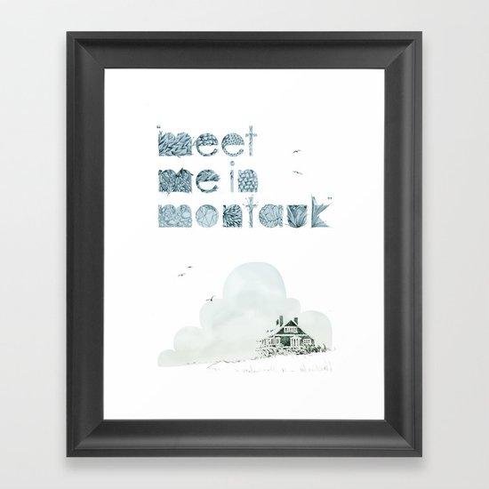"""Meet Me In Montauk"" Framed Art Print"