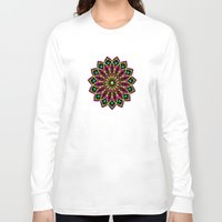 stained glass Long Sleeve T-shirts featuring Stained Glass by Designs By Misty Blue (Misty Lemons)