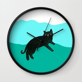 Cat Life 4 Wall Clock