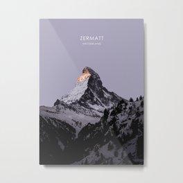 Zermatt, Switzerland Artwork Metal Print