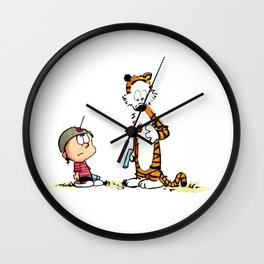 Calvin And Hobbes playing Wall Clock