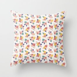 Autumn florals Throw Pillow
