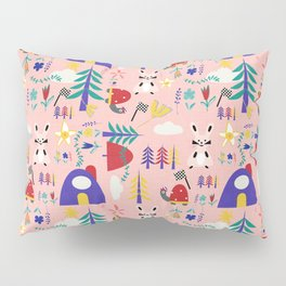 Tortoise and the Hare is one of Aesop Fables pink Pillow Sham