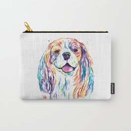 Cavalier King Charles Spaniel - Colorful Watercolor Painting Carry-All Pouch