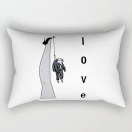 the woman's leg . love . art . Rectangular Pillow