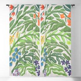 Floral Rainbow Blackout Curtain