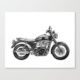 Triumph Motorcycle Canvas Print