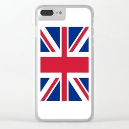 flag of uk- London,united kingdom,england,english,british,great britain,Glasgow,scotland,wales Clear iPhone Case
