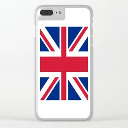 flag of uk- London,united kingdom,england,english,british,great britain,Glasgow,scotland,wales Clear iPhone Case