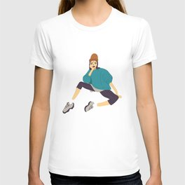 Girl in sporty style T-shirt