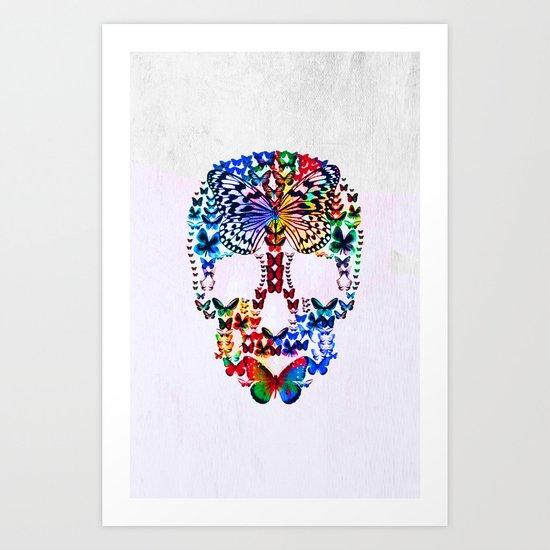 Cranium Butterflies Art Print