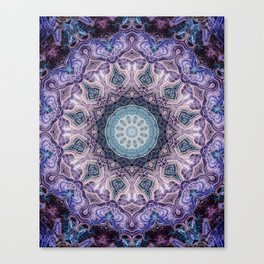 Plum and cream mandala Canvas Print