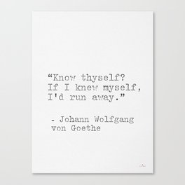 Johann Wolfgang von Goeth philosophy quote Canvas Print