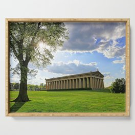 The Parthenon in Nashville, Tennessee in Centennial Park Serving Tray