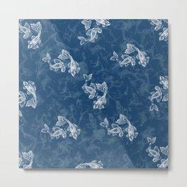Smoked Fish, Blue Metal Print