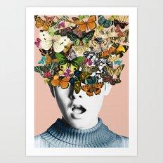 Twiggy Surprise Art Print