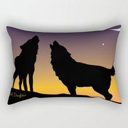 Howl Together Rectangular Pillow