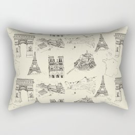 France vintage Rectangular Pillow