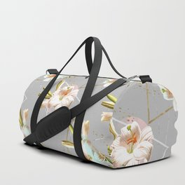 Botanical blooming with geometric 02 Duffle Bag