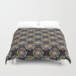 Kitchen Cutlery Colored Duvet Cover