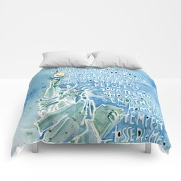 The Statue of Liberty Comforters