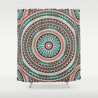 islam Shower Curtains featuring Endless mandala by Rceeh